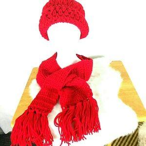Handmade Crochet Hat and Scarf Set